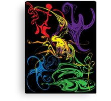 Ink Ghosts Canvas Print