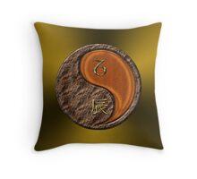 Capricorn & Dragon Yang Wood Throw Pillow