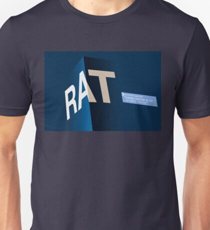 """never corner a rat..."" Dark Unisex T-Shirt"