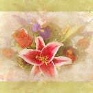 """""""A Gentle Wish"""" Scarf~Green Textured Borders by Susan Werby"""