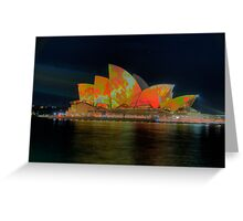 Psychedelic Dreaming - Vivid Sydney Festival - The HDR Experience Greeting Card