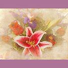 """A Gentle Wish"" Scarf~Purple Borders by Susan Werby"