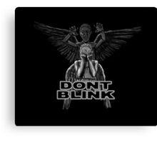 Doctor Who - Weeping Angels - Don't Blink Canvas Print