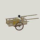 Girl In Cart by catherine barnhoorn