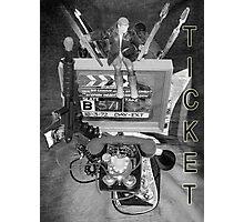 B Movie Cinema Ticket. Photographic Print