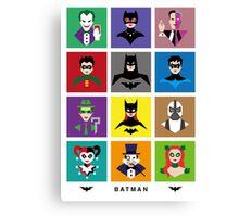 Batman Gotham Heroes & Villains Canvas Print