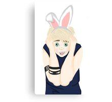 """""""Punk Rock"""" Bunny Boy Canvas Print"""