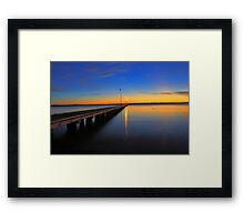 Como Jetty Sunset  Framed Print