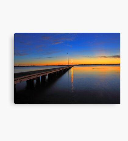 Como Jetty Sunset  Canvas Print