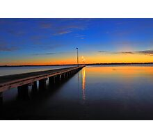 Como Jetty Sunset  Photographic Print