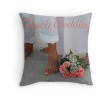 Beach Wedding Throw Pillow