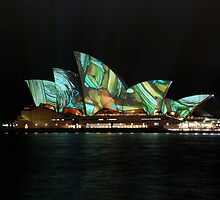 Opera house Sydney, Sydney's Festival of Music, Light and Ideas 2009  by Kamran Baig