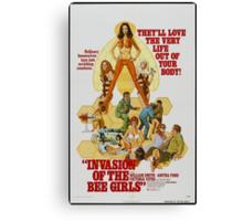 Invasion Of The Bee Girls (Orange) Canvas Print