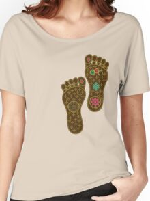 Footprints of the Buddha Women's Relaxed Fit T-Shirt