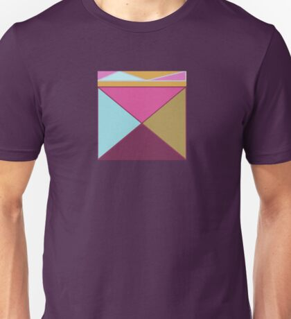Triangle Pattern in Pink, Blue, Purple and Gold Unisex T-Shirt