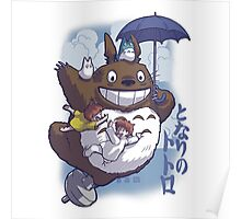 Totoro Fly Poster