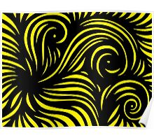 Zwolinski Abstract Expression Yellow Black Poster