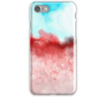 Blue Sky and Red Landscape iPhone Case/Skin