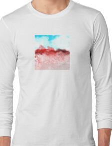 Blue Sky and Red Landscape Long Sleeve T-Shirt