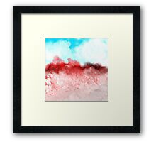 Blue Sky and Red Landscape Framed Print