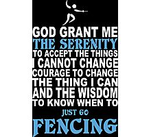Funny Fencing Tshirts, Mobile Covers and Posters Photographic Print