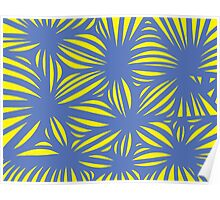 Corbet Abstract Expression Yellow Blue Poster