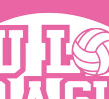 Women's volleyball T-shirt Sticker