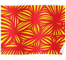 Sundstrom Abstract Expression Yellow Red Poster