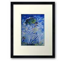 Woman With Parasol painting Framed Print