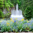 Ross Fountain in Butchart Gardens by Carol Clifford
