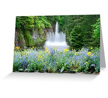 Ross Fountain in Butchart Gardens Greeting Card