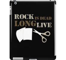 Rock is Dead Long Live Paper And Scissors iPad Case/Skin