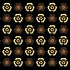 Recycle Flower Pattern (on black) by catherine bosman