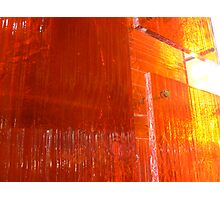 Orangey shine Photographic Print