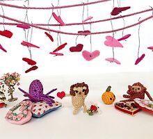 A Miniature Critter Valentine by riaartworld