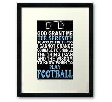Funny Football Tshirts Framed Print