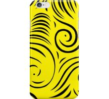 Strasburger Abstract Expression Yellow Black iPhone Case/Skin