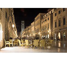 Stradun , Dubrovnik , Croatia Photographic Print