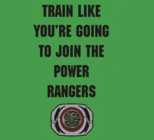 Train As If You're Joining The Power Rangers Kids Clothes