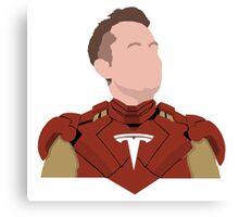 Elon Musk - Real Life Iron man - Minimalistic Print Canvas Print