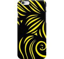Velardo Abstract Expression Yellow Black iPhone Case/Skin