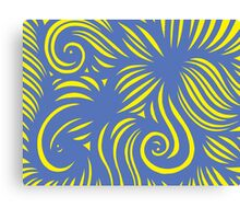 Vilar Abstract Expression Yellow Blue Canvas Print