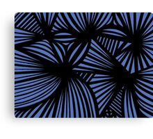Churchill Abstract Expression Blue Black Canvas Print