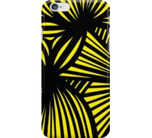 Nanka Abstract Expression Yellow Black iPhone Case/Skin