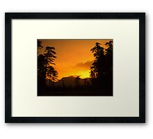 The First Early Morning... Framed Print
