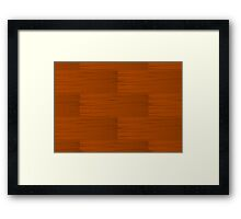 Wood Grain Pattern Framed Print