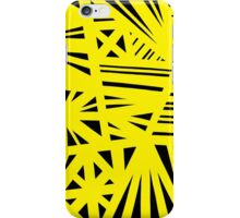 Wolny Abstract Expression Yellow Black iPhone Case/Skin
