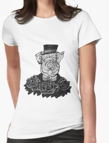 Greyscale Sir Tattoo - Digital Art by Tumi, Art by Brian Fusaro Womens Fitted T-Shirt