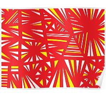 Vetter Abstract Expression Yellow Red Poster