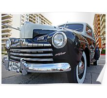 Retro Police Car in Bal Harbour, Florida Poster